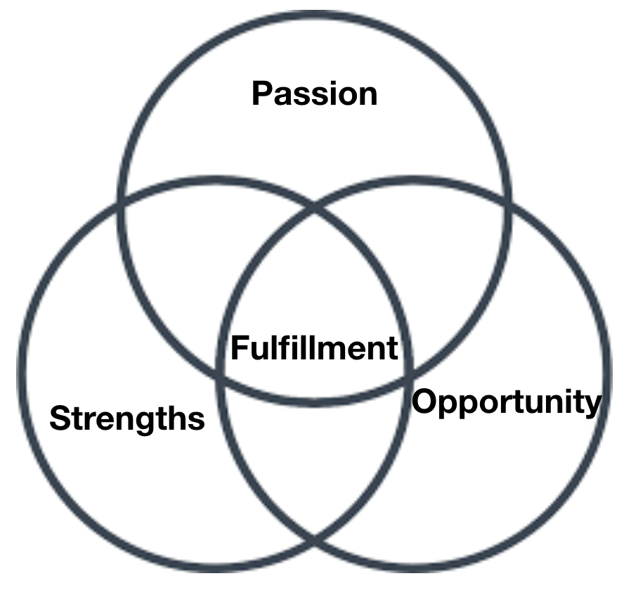 Overlap between Opportunity, Strengths, Passion